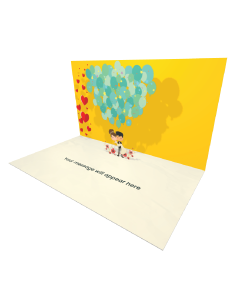 Send Engagement and Marriage eCard and Online Greeting Card to your Friends and Family. Wedding Couples with Balloons eCard - Online Greeting Card.