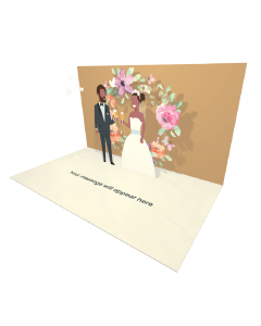 Send Engagement and Marriage eCard and Online Greeting Card to your Friends and Family. Married Couple Standing with Champagne Glasses eCard - Online Greeting Card