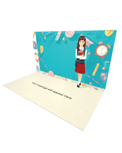 Send Graduation eCard and Online Greeting Card to your Friends and Family. Cute Girl School Uniform eCard - Online Greeting Card