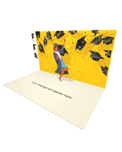 Send Graduation eCard and Online Greeting Card to your Friends and Family. Dark Skinned Girl Graduate eCard - Online Greeting Card.