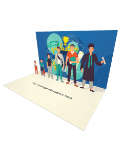 Send Graduation eCard and Online Greeting Card to your Friends and Family. Different Ages Male Students eCard - Online Greeting Card.