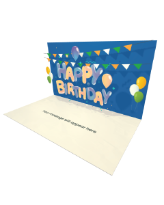 Send Birthday eCard and Online Greeting Card to your Friends and Family. Happy Birthday Lettering - Birthday eCard.