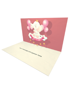 Send Baby Shower eCard and Online Greeting Card to your Friends and Family. Cute Baby Elephant Sitting Cloud eCard.