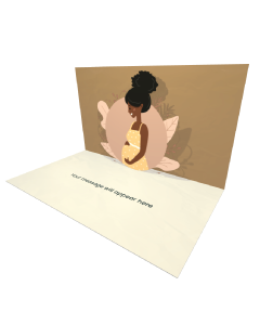 Send Baby Shower eCard and Online Greeting Card to your Friends and Family. Cute Happy Pregnant African Woman eCard.