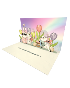 Send Easter eCard and Online Greeting Card to your Friends and Family. Cute Easter Bunny Panda - Easter eCard.