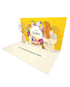 Send Easter eCard and Online Greeting Card to your Friends and Family. Happy Easter Bunny With Easter Egg - Easter eCard.