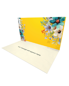 Send Flowers eCard and Online Greeting Card to your Friends and Family. Floral Frame eCard.