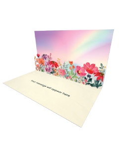 Send Flowers eCard and Online Greeting Card to your Friends and Family. Poppy and Rainbow Floral eCard.