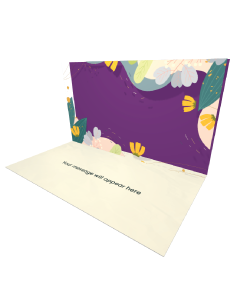 Send Flowers eCard and Online Greeting Card to your Friends and Family. Abstract Floral Pattern eCard.
