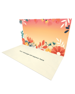 Send Flowers eCard and Online Greeting Card to your Friends and Family. Fall Colors - Autumn Floral eCard.