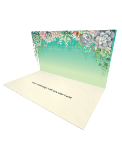 Send Flowers eCard and Online Greeting Card to your Friends and Family. Succulent Floral Frame eCard.