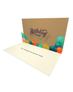 3D Pop-up Birthday Balloons eCard eCard and electronic greeting card