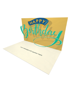 3D Pop-up Free Happy Birthday eCard and electronic greeting card