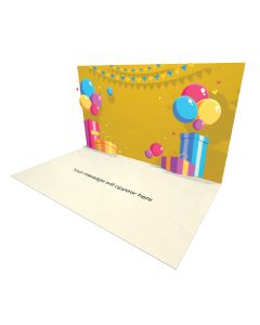3D Pop-up Gift Boxes Balloons and Flags eCard and electronic greeting card