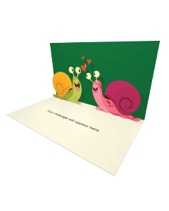 3D Pop-up Two Snails in Love eCard and Electronic Greeting Card