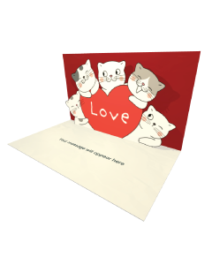 3D Pop-up Love Cats eCard and Electronic Greeting Card