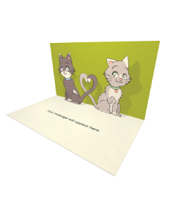 3D Pop-up Two Cats in Love eCard and Electronic Greeting Card