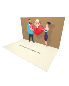 3D Pop-up Boy Kissing Girl eCard and Electronic Greeting Card