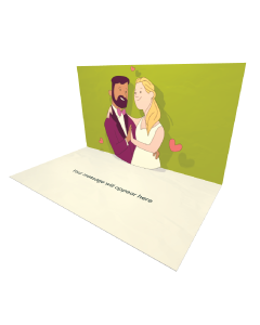 3D Pop-up Gay Women Love eCard and Electronic Greeting Card