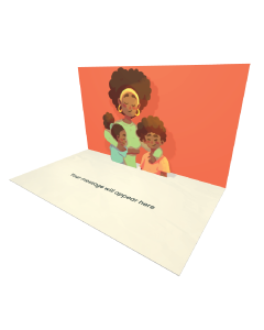 Send Mother's Day eCard and Online Greeting Card to your Friends and Family. Mother With Two Children - Mother's Day eCard.