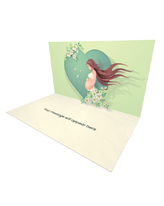Send Mother's Day eCard and Online Greeting Card to your Friends and Family. Pregnant Woman Holdign Her Belly - Happy Mother's Day eCard.