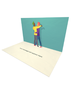3D Pop-up Gay Couple eCard and Electronic Greeting Card
