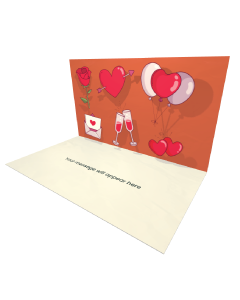 3D Pop-up Hearts and Balloons eCard and Electronic Greeting Card