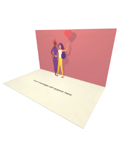 3D Pop-up Girls Friendship eCard and Electronic Greeting Card