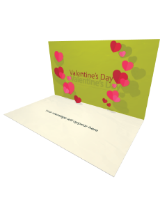 3D Pop-up Valentine's Day Hearts eCard and Electronic Greeting Card