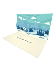 3D Winter Landscape eCard and electronic greeting card