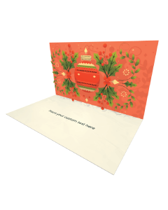 3D Pop-up Christmas Decoration eCard and electronic greeting card