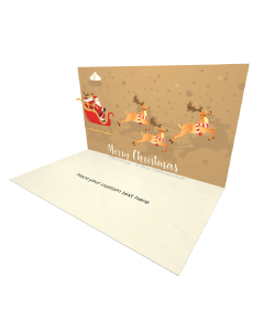 3D Pop-up Santa Claus and Reindeer eCard and electronic greeting card