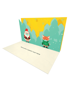 3D Pop-up Santa Claus Social Distancing eCard and electronic card