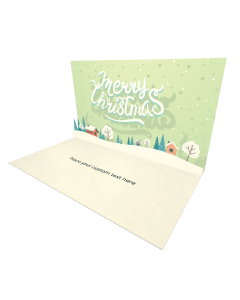 3D Pop-up Merry Christmas Winter Landscape eCard and electronic greeting card