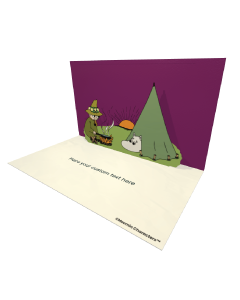 3D Pop-up Moomin Camping Official eCard and electronic greeting card