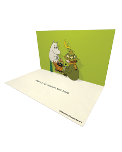 3D Pop-up Moomin and Snufkin Official eCard and electronic greeting card
