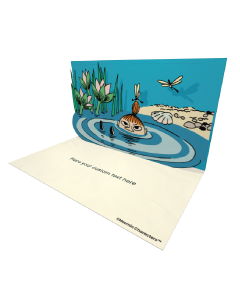 3D Pop-up Moomin Little My Official eCard and electronic greeting card