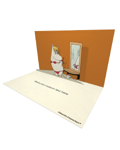 3D Pop-up Moomin Snorkmaiden Official eCard and electronic greeting card