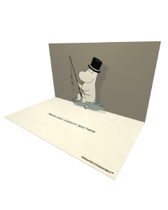 3D Pop-up Moomin Moominpappa Official eCard and electronic greeting card