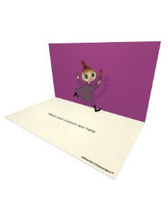 3D Pop-up Moomin Mymble Official eCard and electronic greeting card