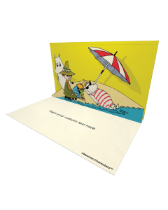 3D Pop-up Moomin Beach Official eCard and greeting card