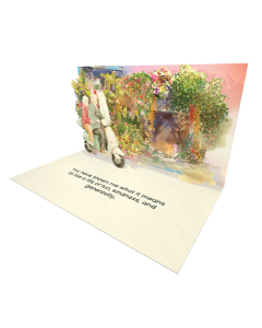 Send Seniors eCard and Online Greeting Card to your Friends and Family. Seniors Couple Riding Retro Motorcycle - Seniors eCard.