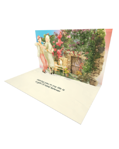 Send Seniors eCard and Online Greeting Card to your Friends and Family. Dancing Seniors Couple in a Garden - Seniors eCard.