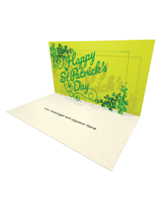 Send Saint Patrick's Day eCard and Online Greeting Card to your Friends and Family. Happy St Patrick's Day Lettering eCard.