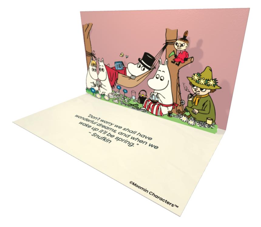 Example of a Moomin eCard